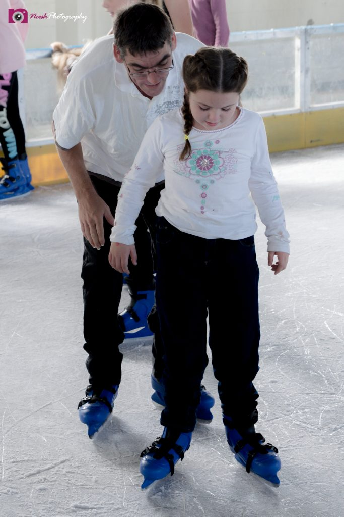 Ice Skating - Lily learns to stand