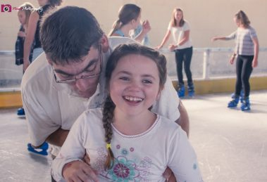 Ice Skating - Dad & Lily