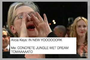 Meme - Alicia Keys New York